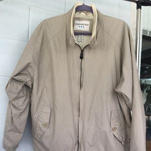 Covington jacket, L, tan, water resistant